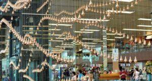 Kinetic-Rain-Singapore - scultura - pioggia- Aeroporto
