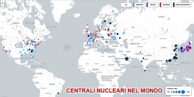 Cartina Centrali Nucleari Nel Mondo.Le Centrali Nucleari Nel Mondo Sono 450
