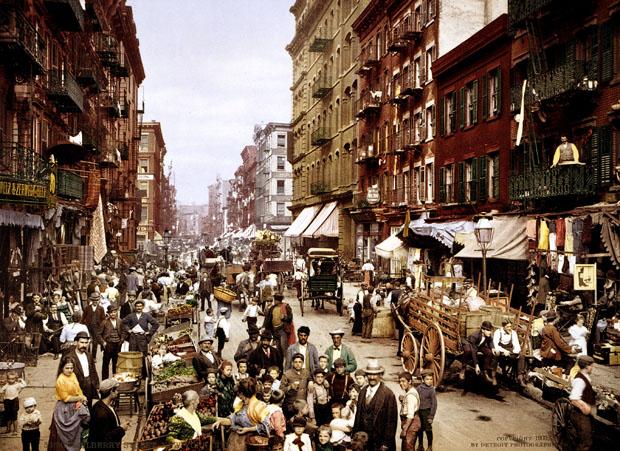 Mulberry Street, Little Italy, Manhattan, 1900 circa