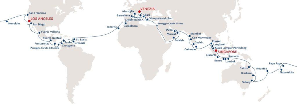Il giro del mondo di Costa Crociere