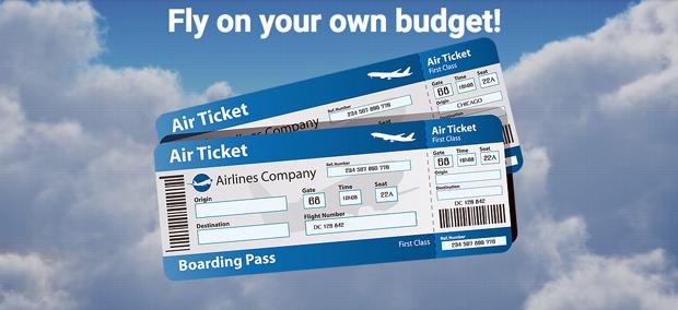 Air Ticket Arena Acquista voli aerei low-cost, ed il prezzo lo scegli tu
