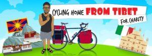 Un viaggio in bici dalla Cina fino all'Italia Claudio Piani