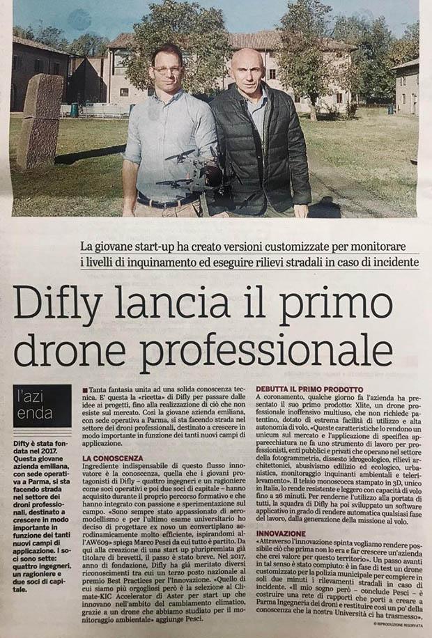 Giovanni Bologna ha mollato tutto per lavorare con i droni